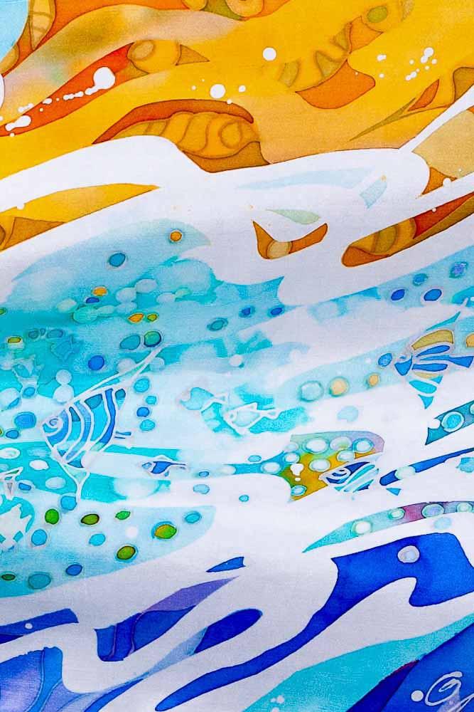 Tableau peinture sur verre IRIS : Peintures par mamycole Tableaux